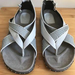 L.A.M.B. Bellatrix Grey Leather Sandal